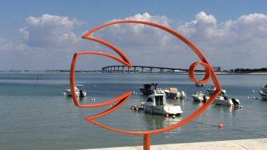 Le pont de l'Ile de Ré depuis Rivedoux Plage
